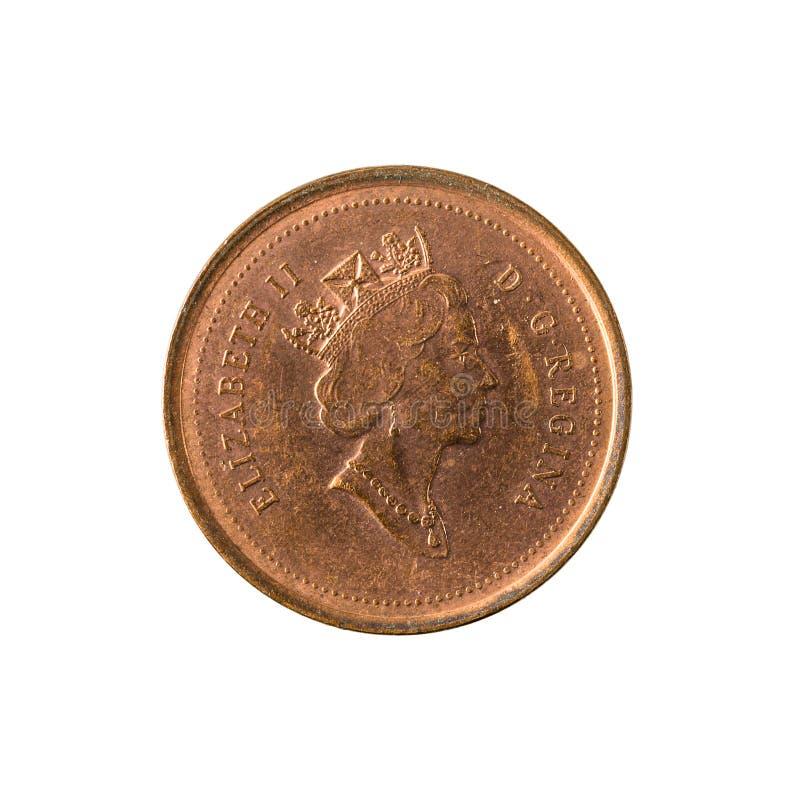 1 καναδική αντιστροφή νομισμάτων 1998 σεντ που απομονώνεται στο άσπρο υπόβαθρο στοκ εικόνες