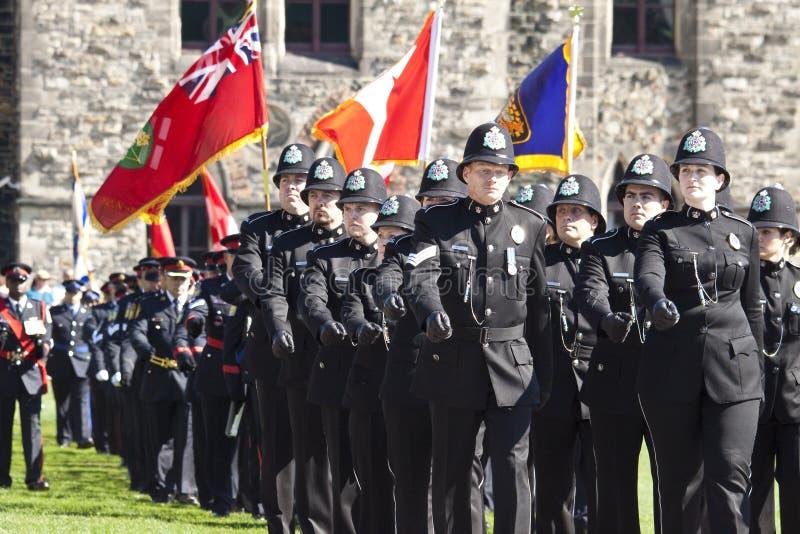 καναδική αστυνομία των Κοινοβουλίων ανώτερων υπαλλήλων λόφων στοκ εικόνα