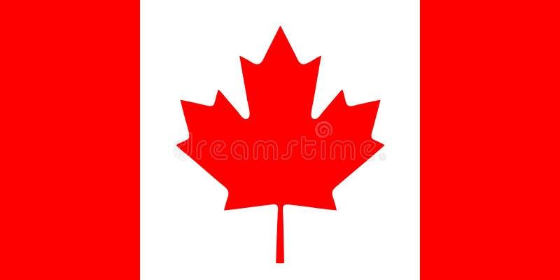καναδική σημαία απεικόνιση αποθεμάτων