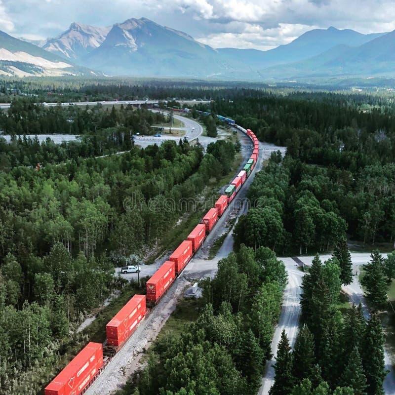 Καναδική σιδηροδρομική διαδρομή Rockies στοκ φωτογραφίες με δικαίωμα ελεύθερης χρήσης