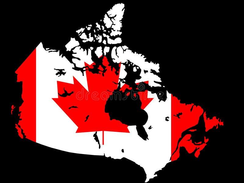 καναδικός χάρτης απεικόνι& απεικόνιση αποθεμάτων