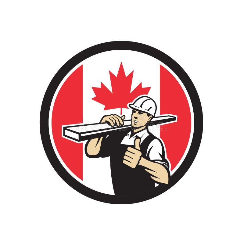 Καναδικό εικονίδιο σημαιών του Καναδά εργαζομένων ναυπηγείων ξυλείας ελεύθερη απεικόνιση δικαιώματος