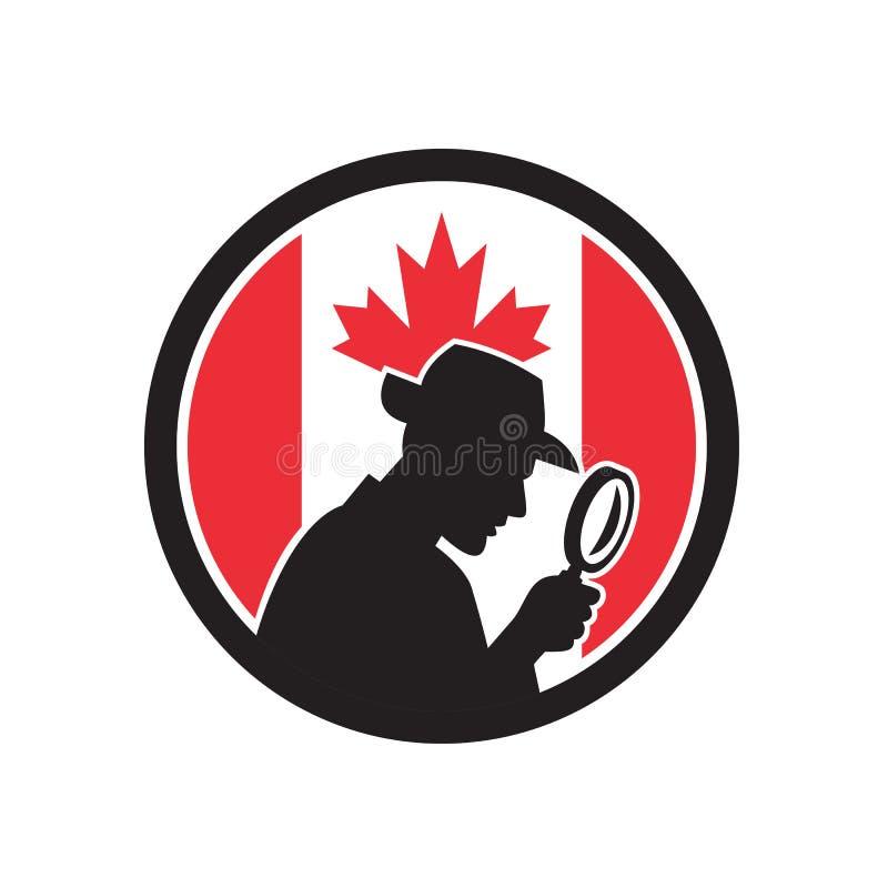 Καναδικό ιδιωτικό εικονίδιο σημαιών του Καναδά ανακριτών διανυσματική απεικόνιση
