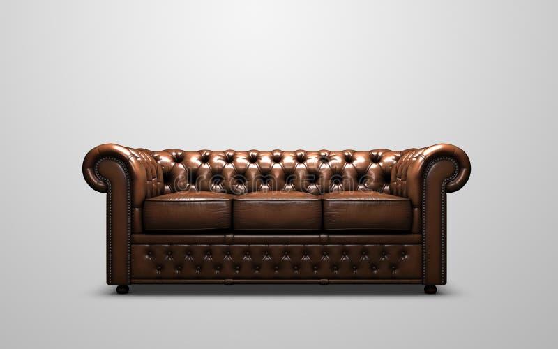 καναπές του Τσέστερφιλντ στοκ φωτογραφία με δικαίωμα ελεύθερης χρήσης