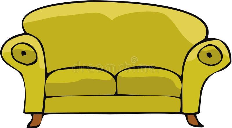 καναπές 02 διανυσματική απεικόνιση