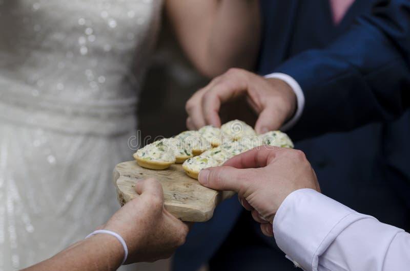 Καναπεδάκια τυριών κρέμας στοκ φωτογραφία