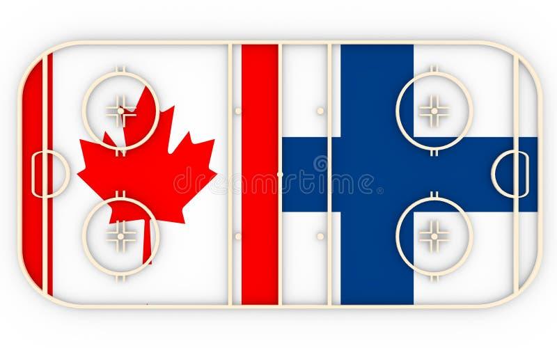 Καναδάς εναντίον της Φινλανδίας Ανταγωνισμός 2016 χόκεϋ πάγου απεικόνιση αποθεμάτων