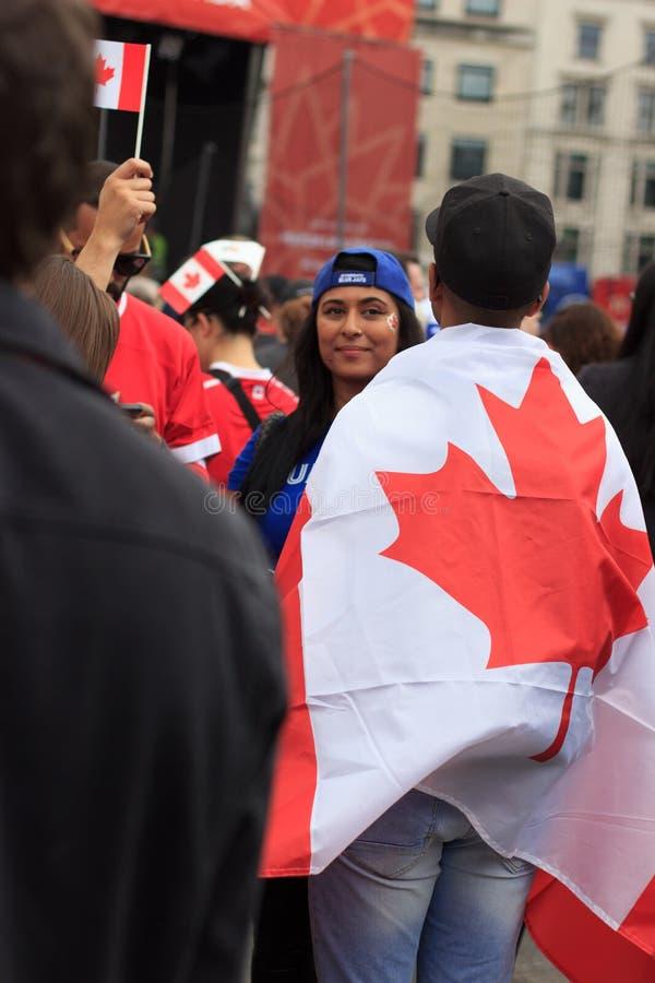 Καναδάς ημέρα 2017 εορτασμοί στο Λονδίνο στοκ εικόνες
