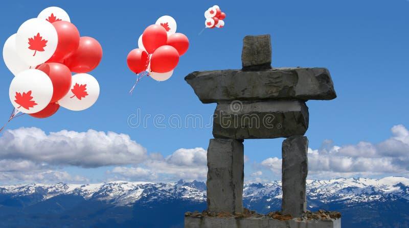 Καναδάς ημέρα Inukshuk στοκ φωτογραφίες με δικαίωμα ελεύθερης χρήσης