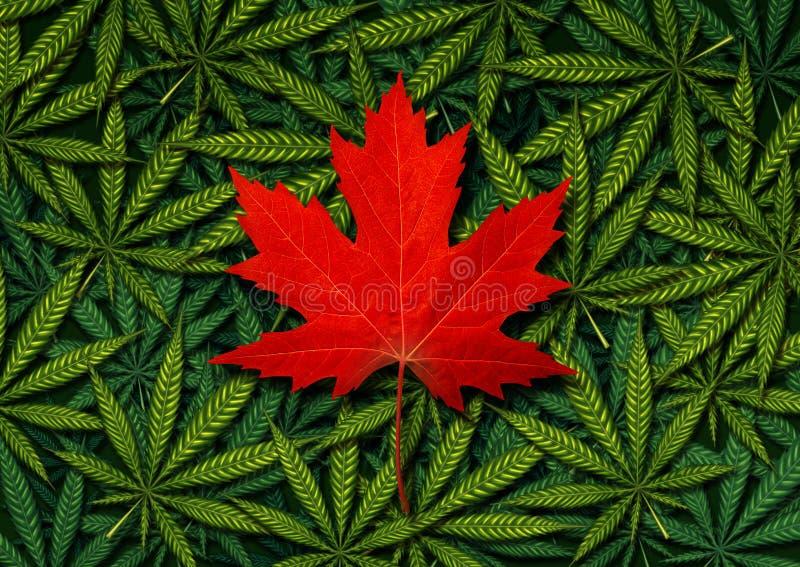 Καναδική έννοια μαριχουάνα διανυσματική απεικόνιση