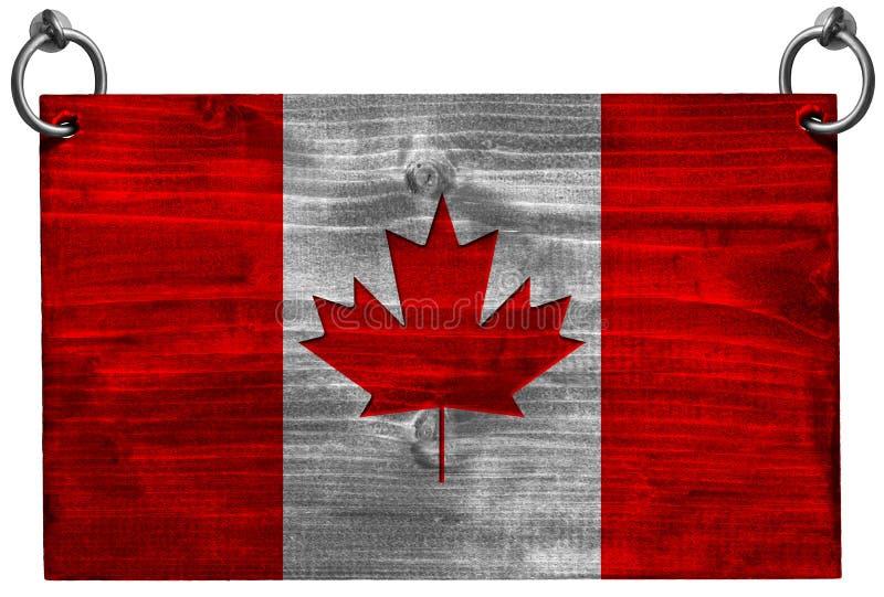Καναδική σημαία με το ψαλίδισμα της πορείας ελεύθερη απεικόνιση δικαιώματος