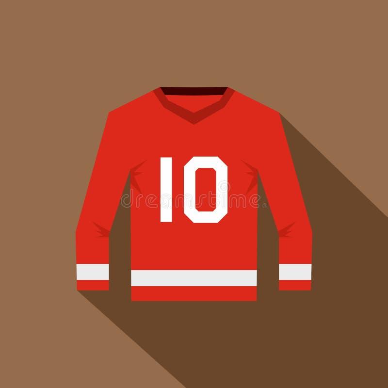 Καναδικό εικονίδιο του Τζέρσεϋ χόκεϋ, επίπεδο ύφος ελεύθερη απεικόνιση δικαιώματος