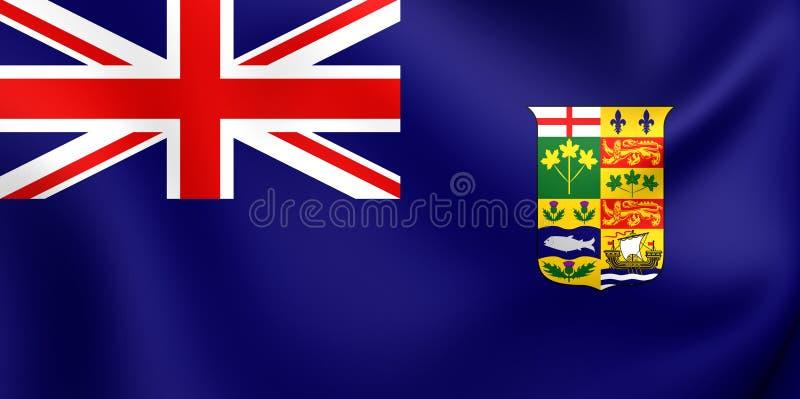 Καναδικό μπλε Ensign 1868-1921 ελεύθερη απεικόνιση δικαιώματος