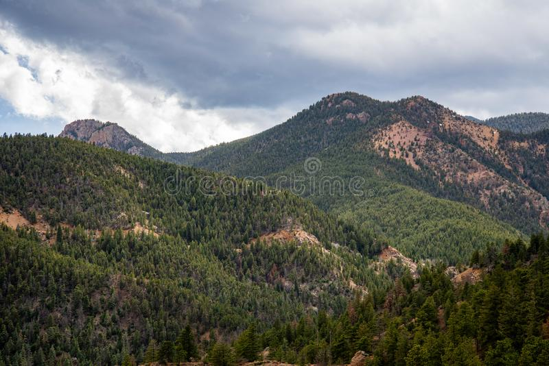 Κανόνας Colorado Springs φαραγγιών του βόρειου Cheyenne στοκ εικόνα με δικαίωμα ελεύθερης χρήσης