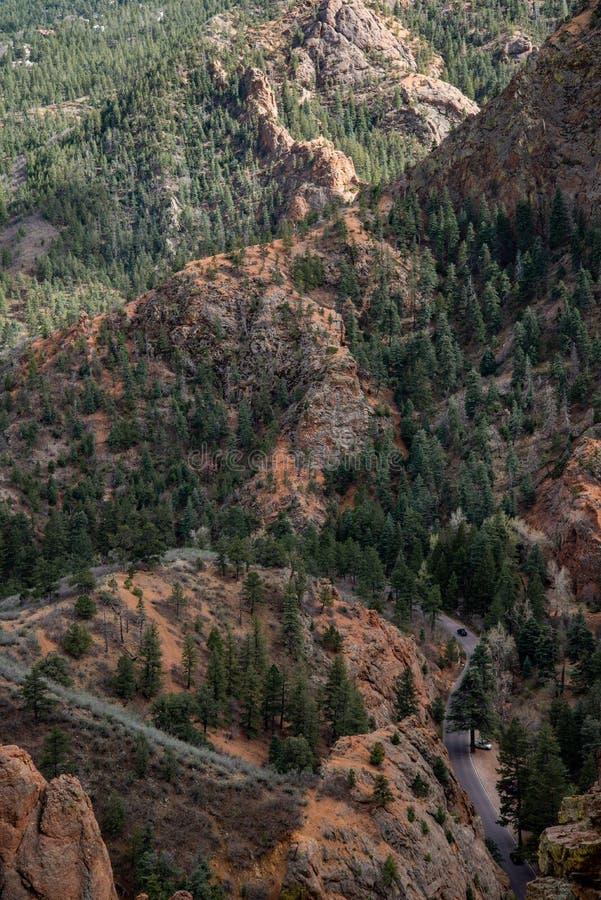 Κανόνας Colorado Springs φαραγγιών του βόρειου Cheyenne στοκ φωτογραφίες με δικαίωμα ελεύθερης χρήσης
