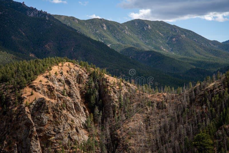 Κανόνας Colorado Springs φαραγγιών του βόρειου Cheyenne στοκ εικόνα