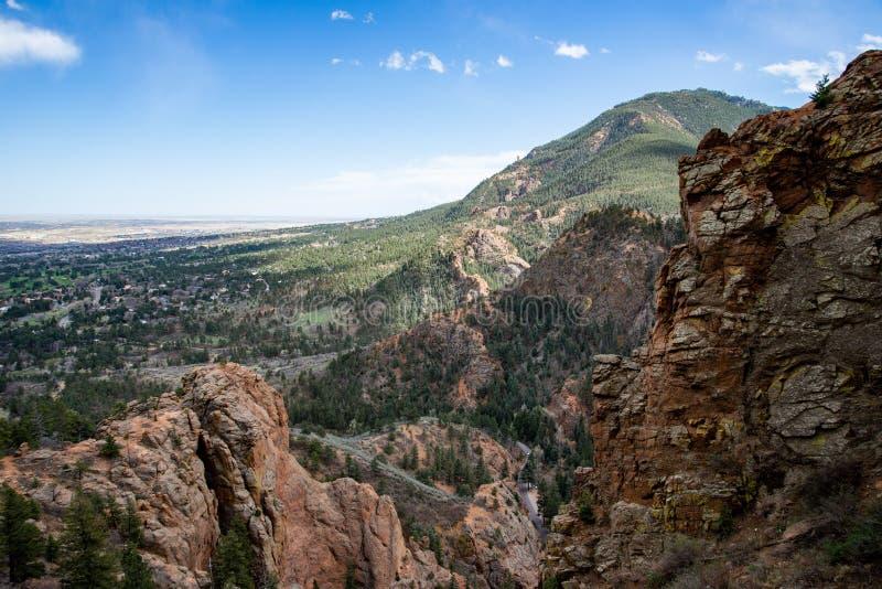 Κανόνας Colorado Springs φαραγγιών του βόρειου Cheyenne στοκ εικόνες με δικαίωμα ελεύθερης χρήσης