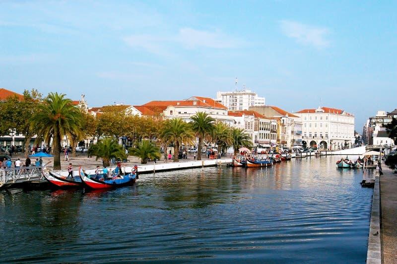 Κανό στο Αβέιρο, Πορτογαλία στοκ φωτογραφία με δικαίωμα ελεύθερης χρήσης