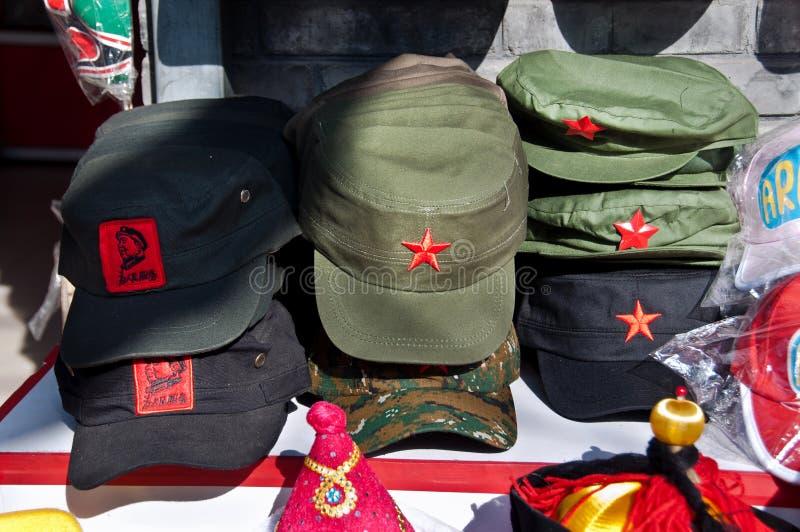 Καπέλα κομμουνιστικός-ύφους αναμνηστικών, Πεκίνο στοκ εικόνα