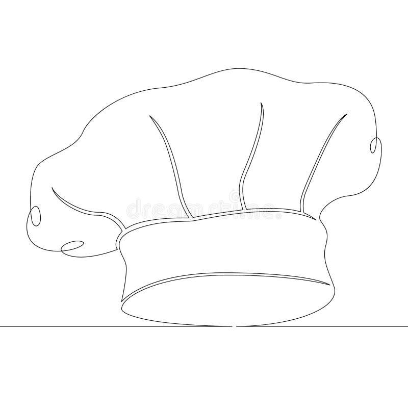 Καπέλο, αρχιμάγειρας, ομοιόμορφος, εστιατόριο, μάγειρας, τρόφιμα, κουζίνα, επαγγελματίας, καφές διανυσματική απεικόνιση
