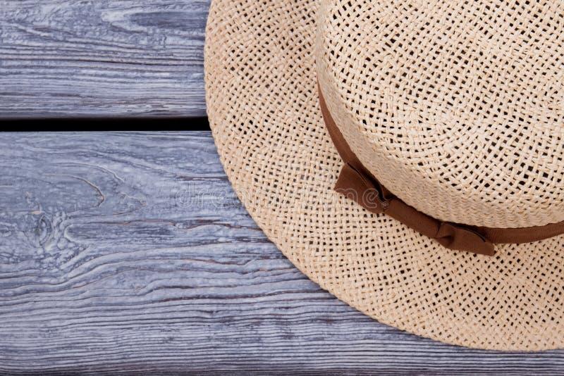Καπέλο αχύρου, τοπ άποψη στοκ εικόνες