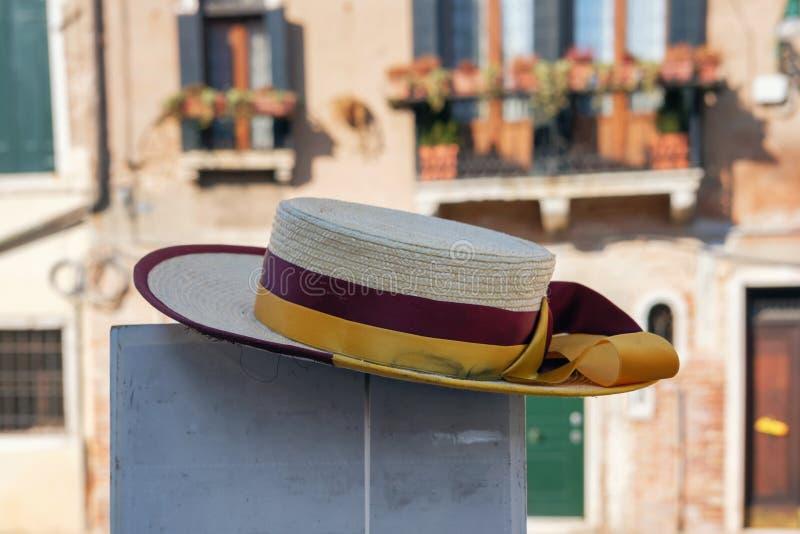 Καπέλο αχύρου gondolier στοκ φωτογραφίες με δικαίωμα ελεύθερης χρήσης