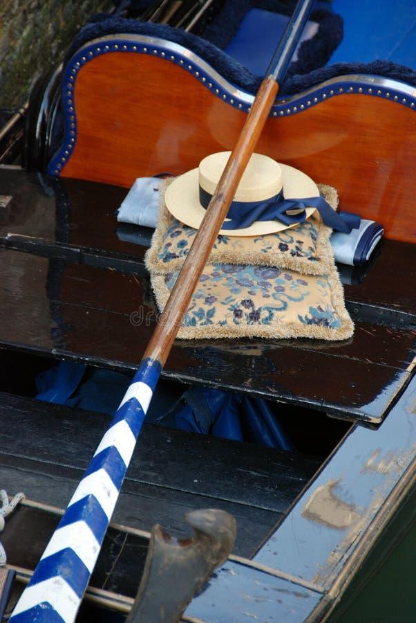 καπέλο Βενετία γονδολών στοκ φωτογραφίες