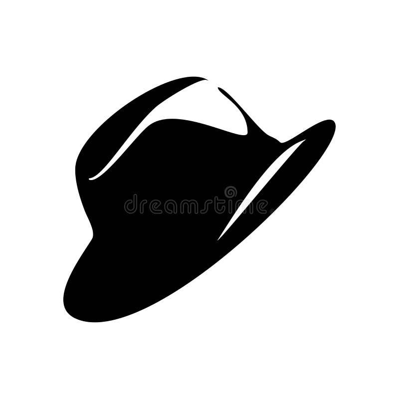 Καπέλο για το εικονίδιο ατόμων απεικόνιση αποθεμάτων