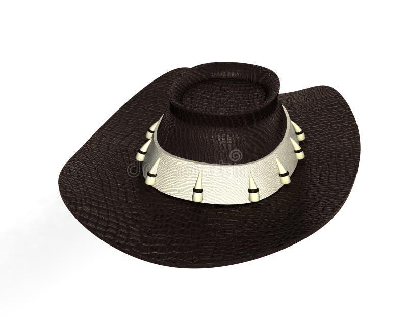 Καπέλο δέρματος τυχοδιωκτών ελεύθερη απεικόνιση δικαιώματος