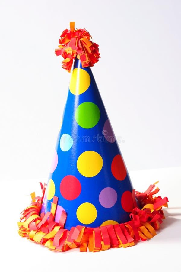 καπέλο εορτασμού γενεθλίων στοκ εικόνα