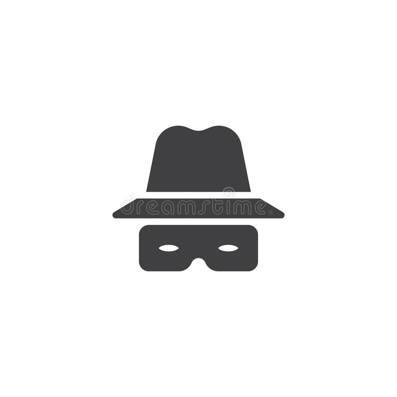 Καπέλο και διανυσματικό εικονίδιο γυαλιών ελεύθερη απεικόνιση δικαιώματος