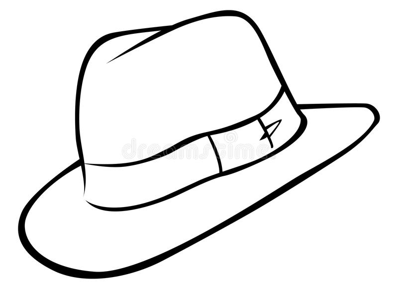 καπέλο τυχοδιωκτών απεικόνιση αποθεμάτων