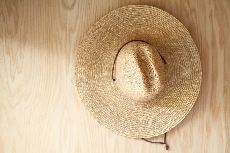 Καπέλο στο ξύλο στοκ φωτογραφία με δικαίωμα ελεύθερης χρήσης