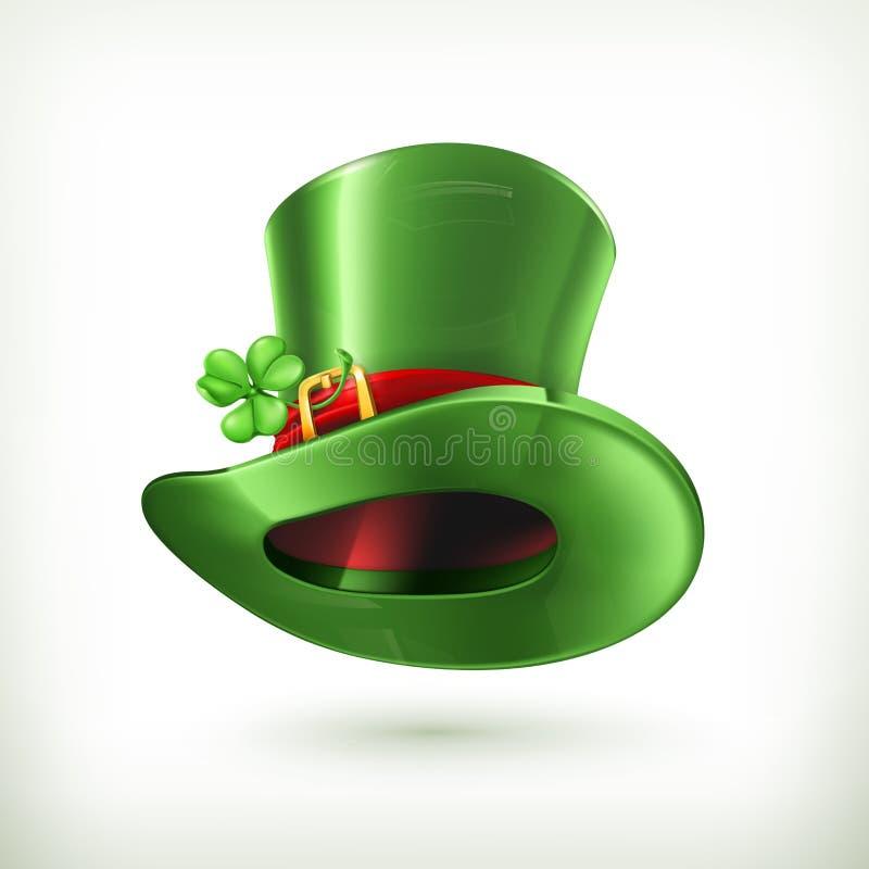 Καπέλο Leprechaun, διανυσματικό εικονίδιο διανυσματική απεικόνιση
