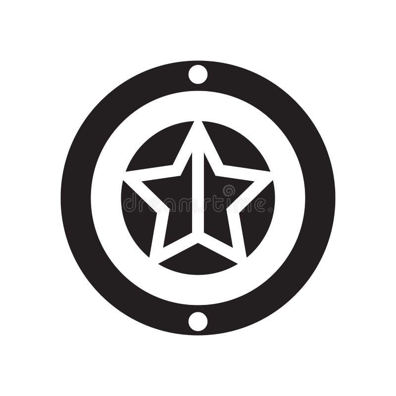 Καπετάνιου Αμερική σημάδι και σύμβολο εικονιδίων διανυσματικό που απομονώνονται στο άσπρο BA διανυσματική απεικόνιση