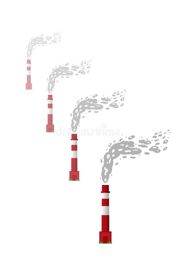 Καπνίζοντας καπνοδόχοι απεικόνιση αποθεμάτων