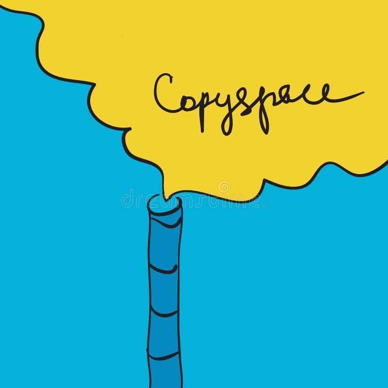 Καπνίζοντας καπνοδόχος έννοιας ατμοσφαιρικής ρύπανσης ελεύθερη απεικόνιση δικαιώματος