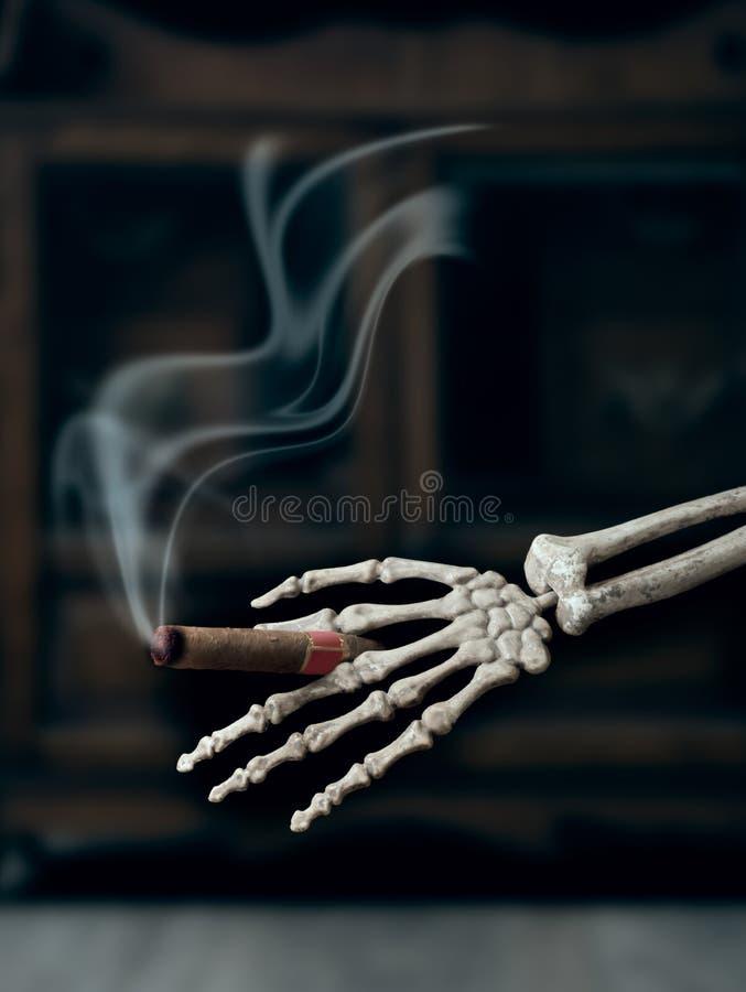 Καπνίζοντας πούρο στοκ εικόνες