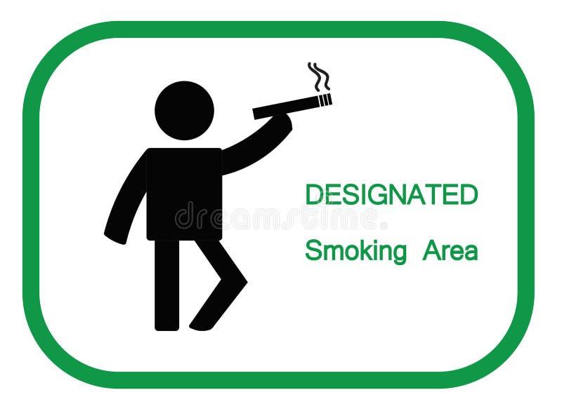 Καπνίζοντας σημάδι περιοχής να ενεργήσει κινούμενων σχεδίων απεικόνιση αποθεμάτων