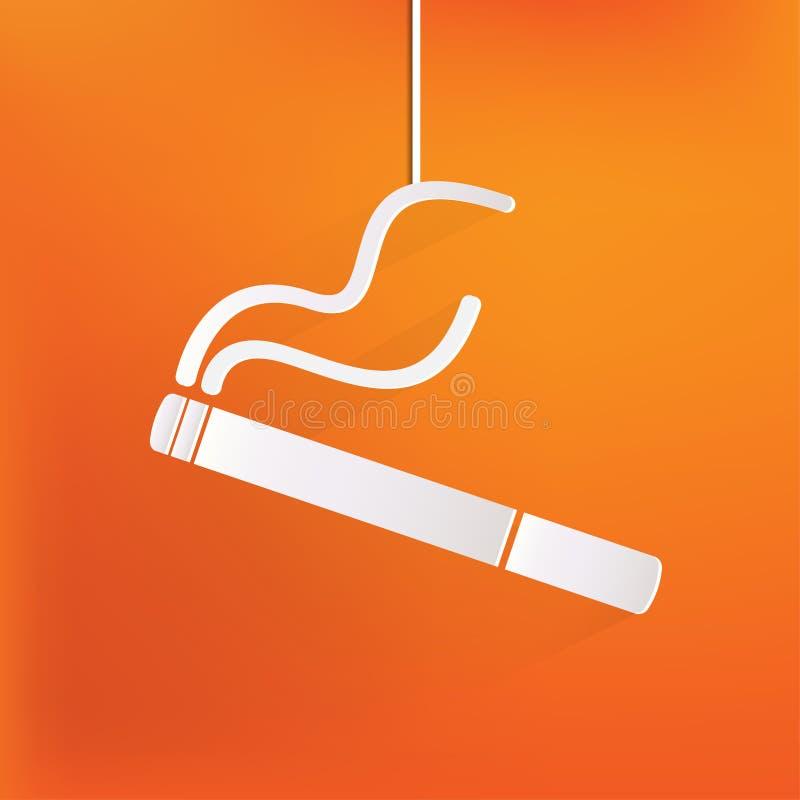 Καπνίζοντας σημάδι. εικονίδιο τσιγάρων. διανυσματική απεικόνιση
