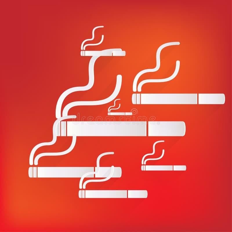 Καπνίζοντας σημάδι. εικονίδιο τσιγάρων. απεικόνιση αποθεμάτων