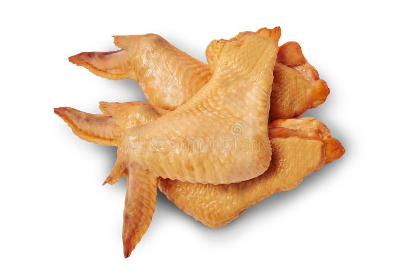 καπνισμένα κοτόπουλο φτ&epsil η ανασκόπηση απομόνωσε το λευκό στοκ εικόνες
