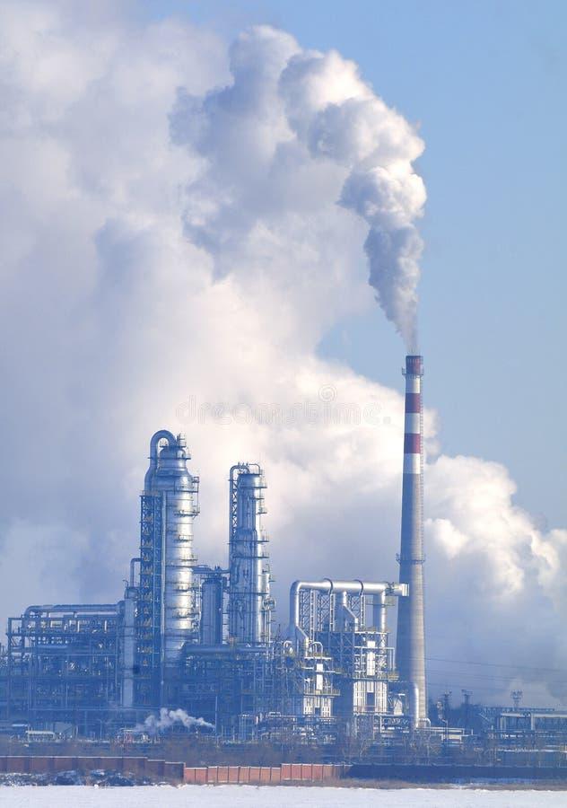 Καπνοδόχος εγκαταστάσεων παραγωγής ενέργειας στοκ φωτογραφίες