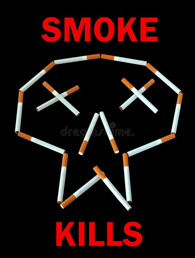 καπνός αφισών θανατώσεων στοκ εικόνα με δικαίωμα ελεύθερης χρήσης