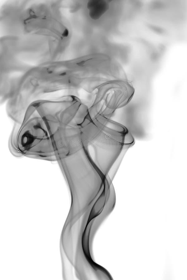 Καπνός στην άσπρη ανασκόπηση στοκ φωτογραφίες με δικαίωμα ελεύθερης χρήσης