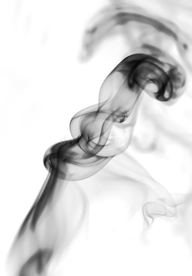 Καπνός στην άσπρη ανασκόπηση στοκ εικόνες με δικαίωμα ελεύθερης χρήσης