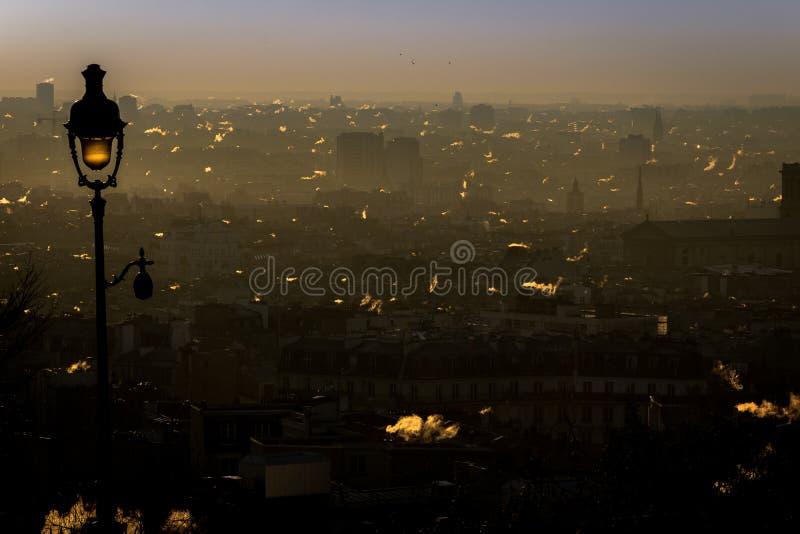 Καπνός στο Παρίσι στοκ φωτογραφία με δικαίωμα ελεύθερης χρήσης