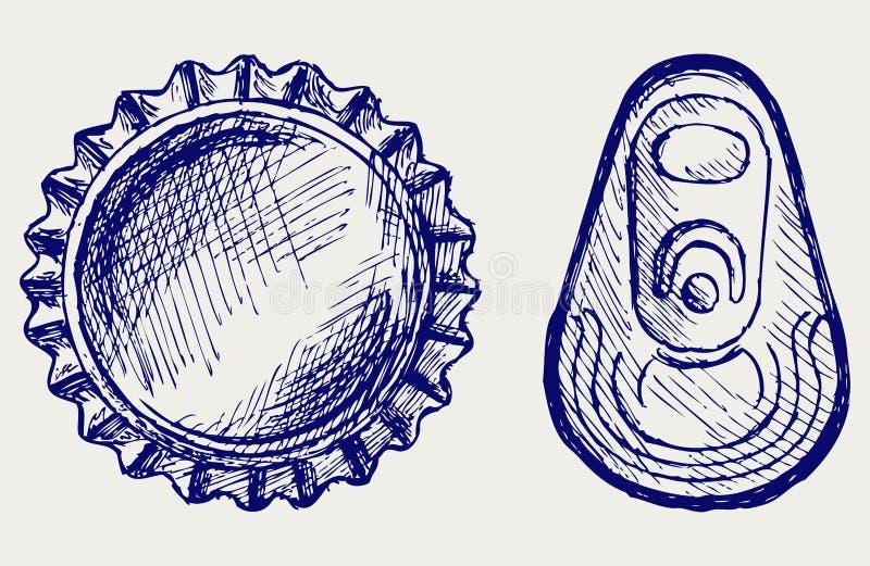 ΚΑΠ μπουκαλιών διανυσματική απεικόνιση