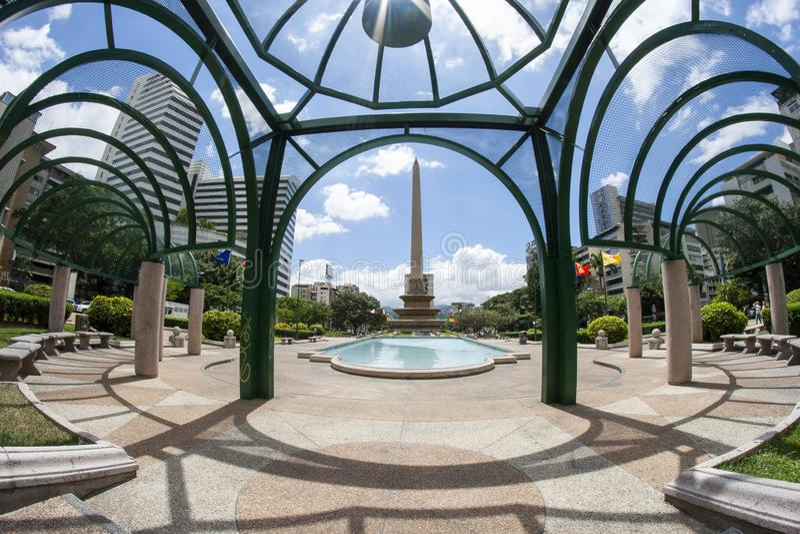 Καράκας, Βενεζουέλα Πλατεία Αλταμίρα ή Plaza Altamira, Plaza Francia, Πλατεία Γαλλίας στοκ φωτογραφία με δικαίωμα ελεύθερης χρήσης