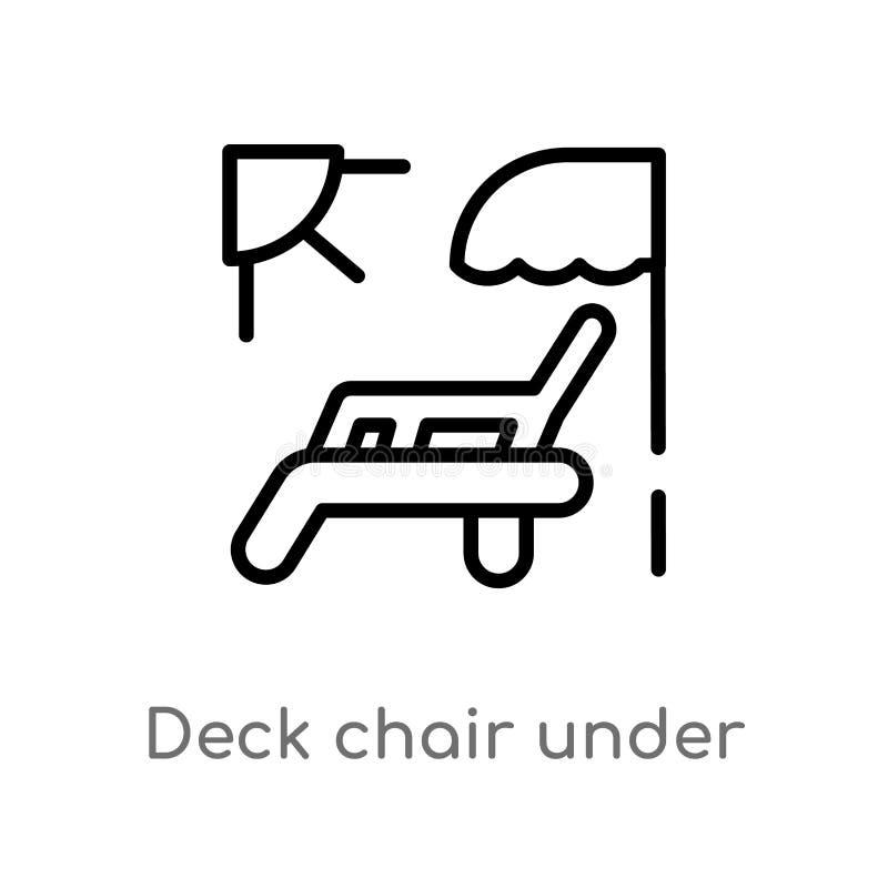 καρέκλα γεφυρών περιλήψεων κάτω από το διανυσματικό εικονίδιο ήλιων απομονωμένη μαύρη απλή απεικόνιση στοιχείων γραμμών από τη γε απεικόνιση αποθεμάτων